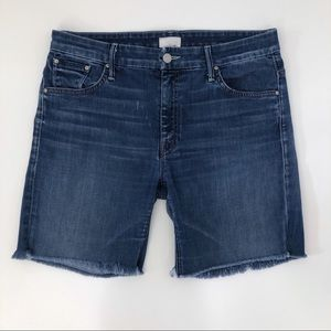 Mother The Mellow Drama Denim Shorts 30 Stardust